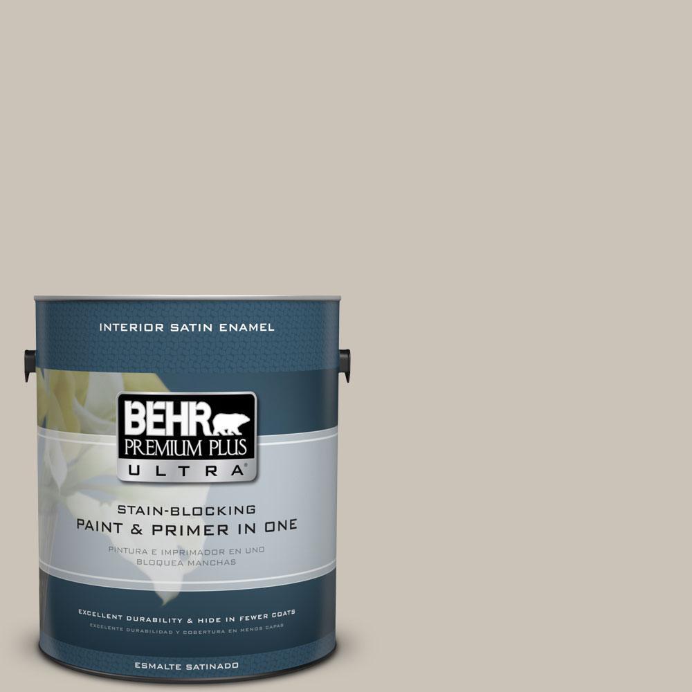 BEHR Premium Plus Ultra 1-gal. #720C-3 Wheat Bread Satin Enamel Interior Paint