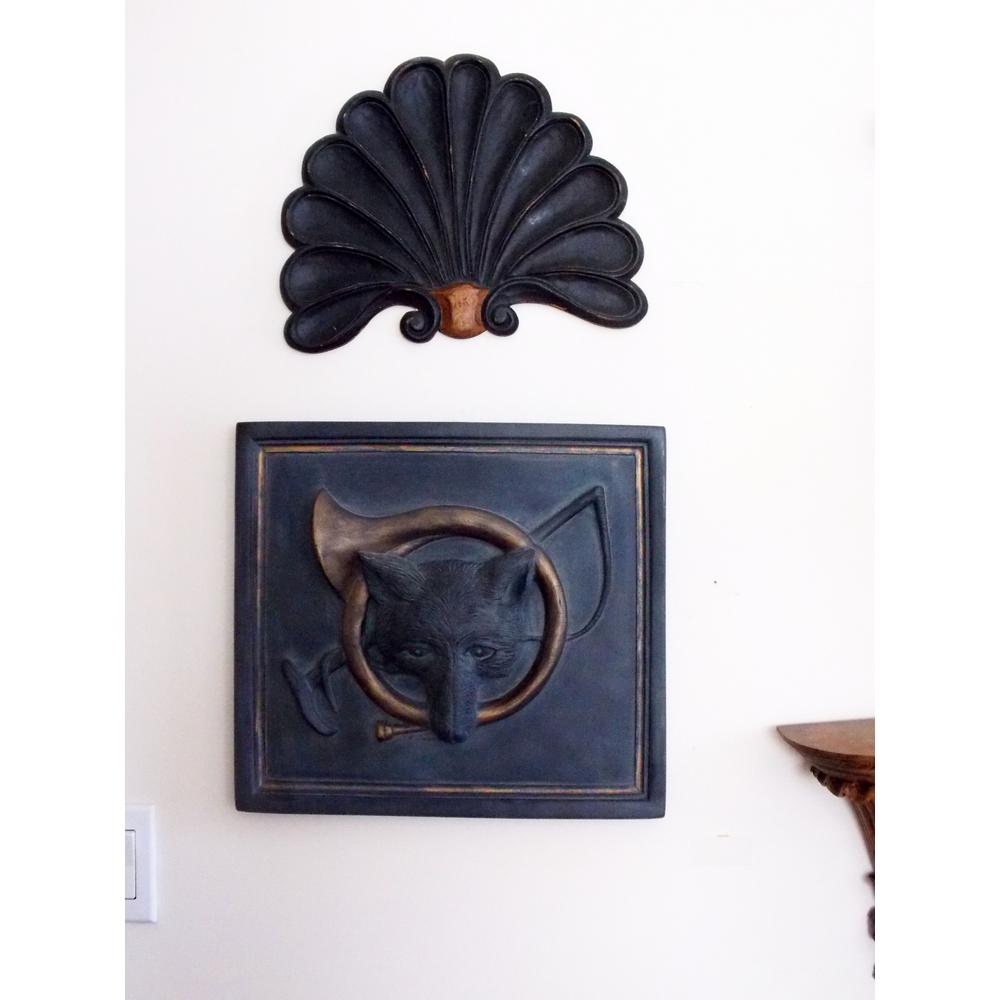 House Parts Fox and Horn Plaque-3905-1-1-01-04-63 - The Home Depot