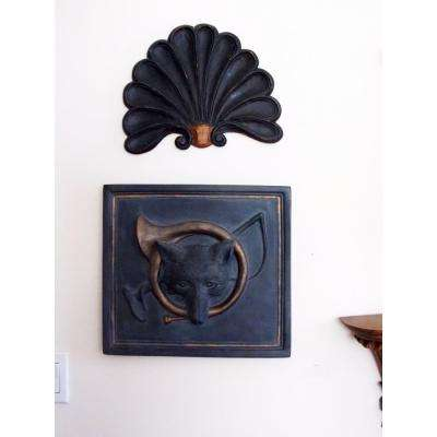 Fox and Horn Plaque