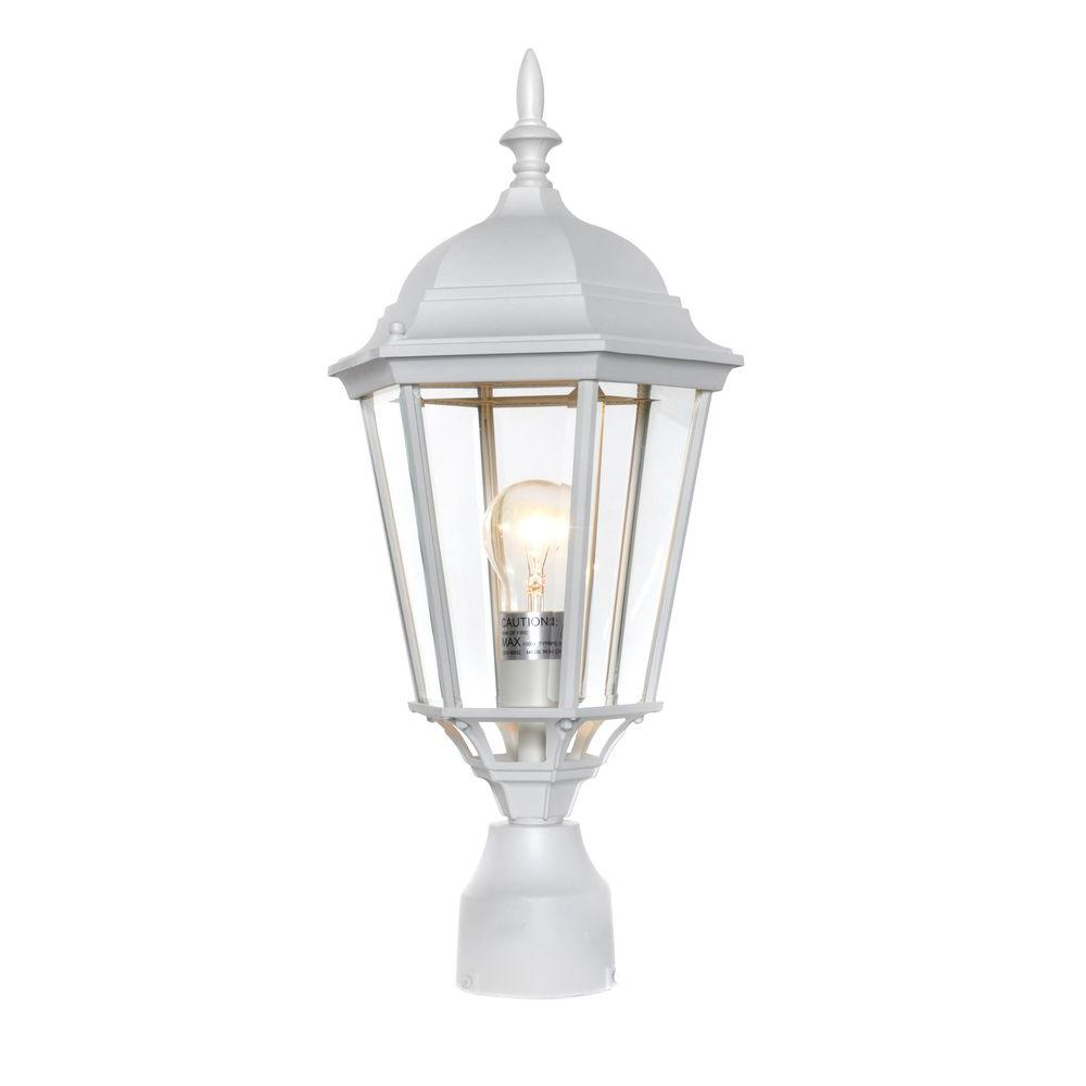 Outdoor Post Lights At Home Depot: Maxim Lighting Westlake 1-Light White Outdoor Pole/Post