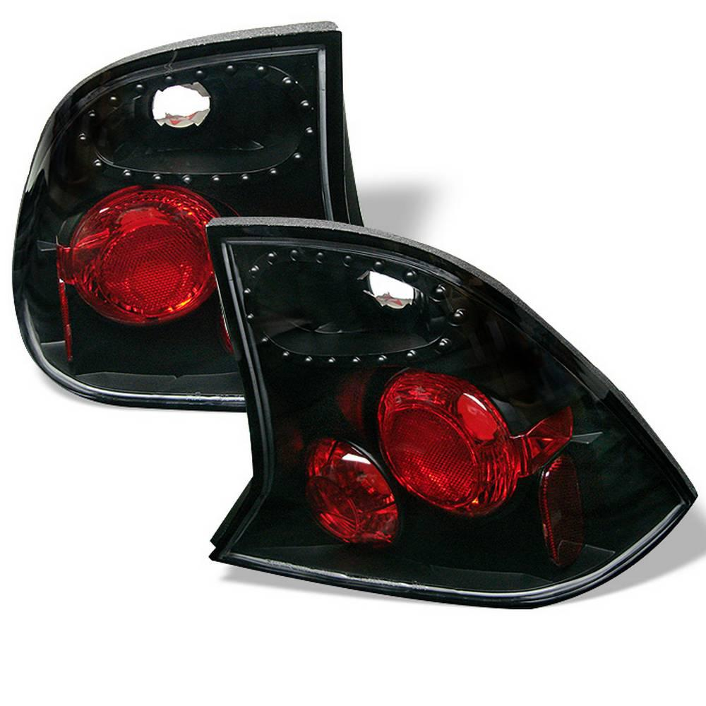 Ford Focus 00 04 4dr Euro Style Tail Lights Black