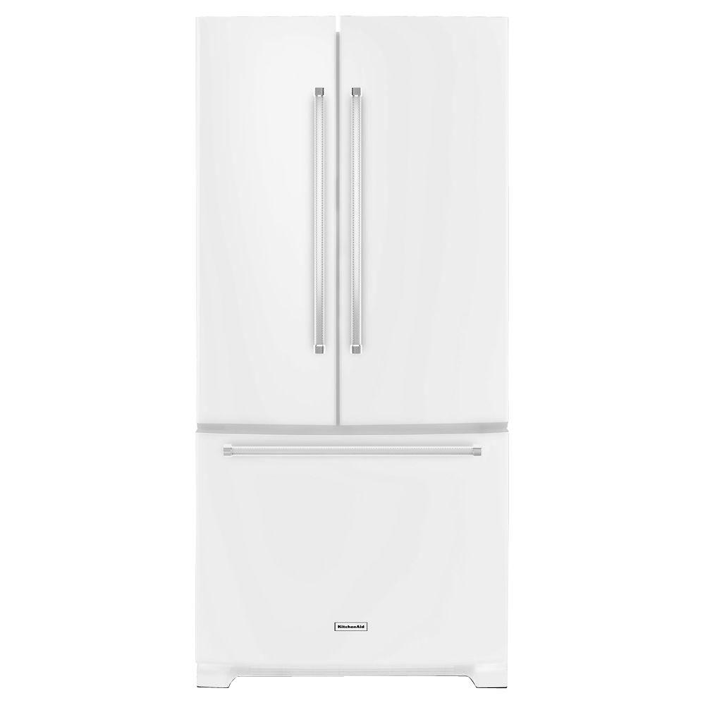 Kitchenaid 33 in w 221 cu ft french door refrigerator in kitchenaid 33 in w 221 cu ft french door refrigerator in stainless steel krff302ess the home depot rubansaba