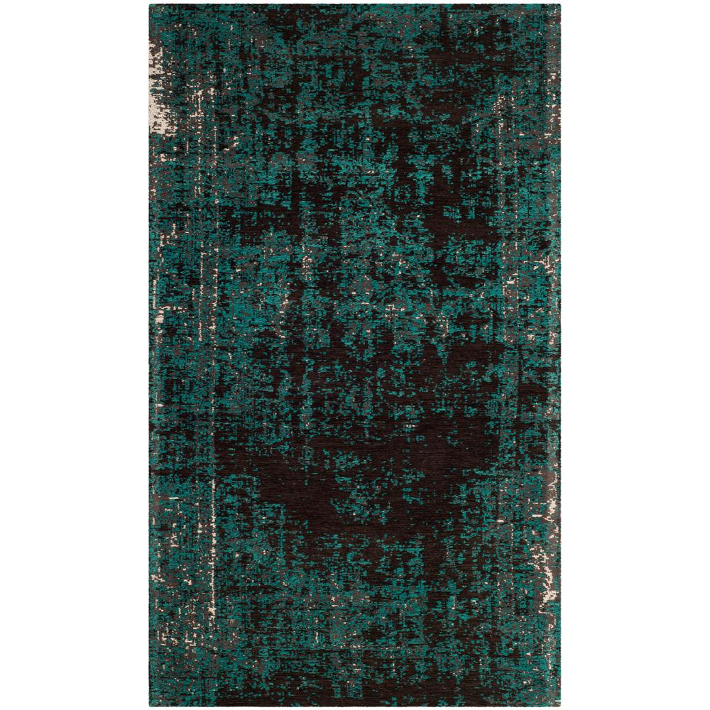 Safavieh Classic Vintage Teal Brown 3 Ft X 5 Ft Area Rug Clv225a