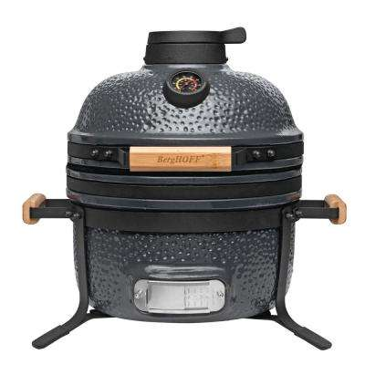 """20.5"""" Ceramic Portable Charcoal Grill in Blue"""