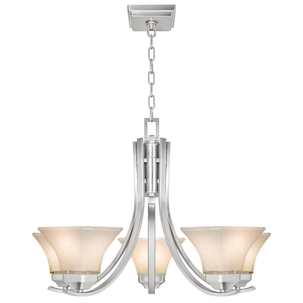 Hampton bay nove 5 light brushed nickel chandelier with white glass hampton bay nove 5 light brushed nickel chandelier with white glass shades 17165 the home depot arubaitofo Image collections