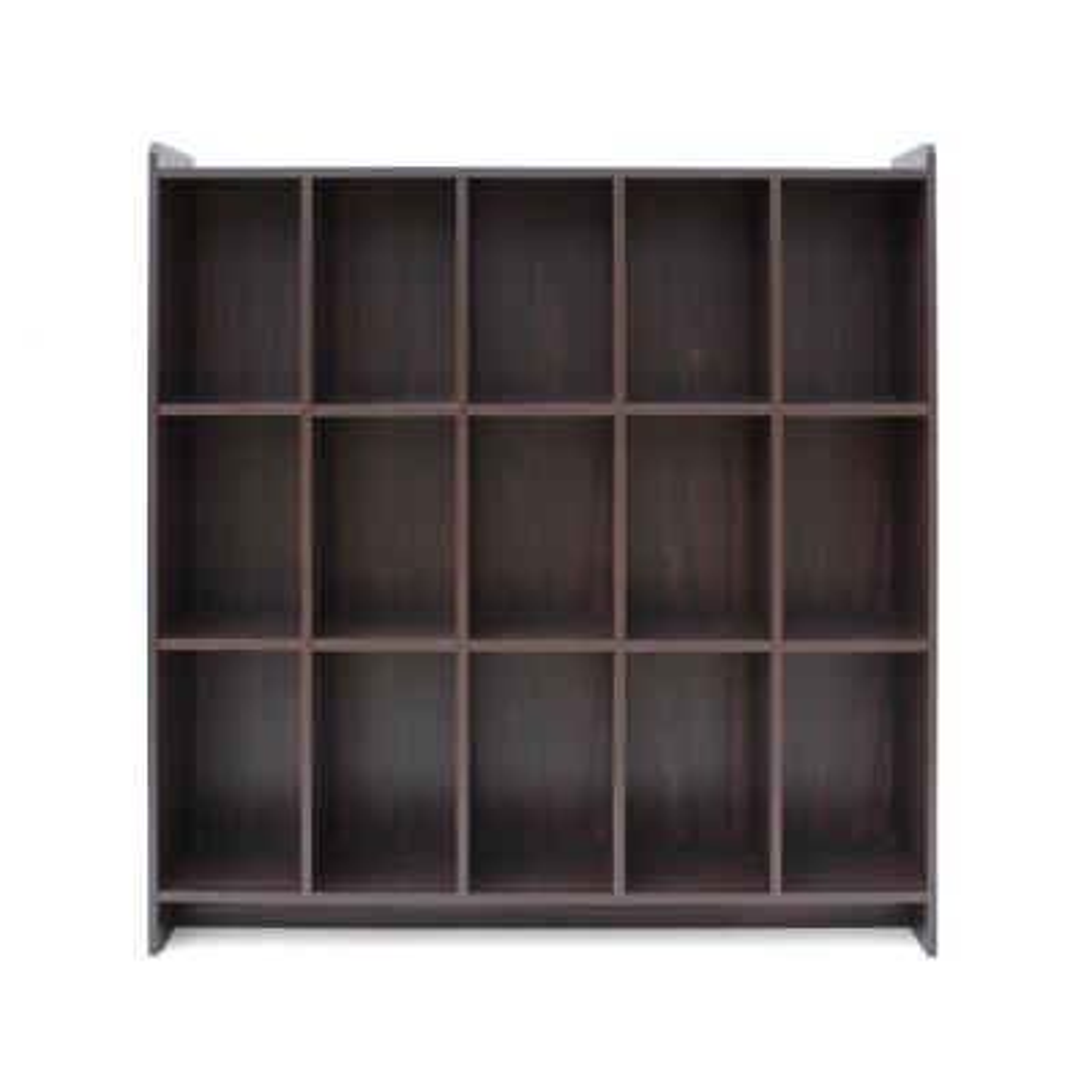 Lark Traditional Walnut Brown Faux Wood Bookshelf