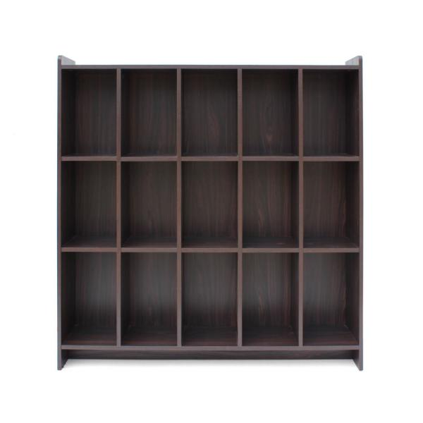 Lark Traditional Walnut Brown Faux Wood Bookshelf