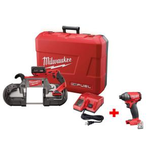 Milwaukee M18 FUEL 18-Volt Cordless Lithium-Ion Brushless Deep Cut Band Saw Kit with Free M18 FUEL 1/4 inch Hex Impact... by Milwaukee