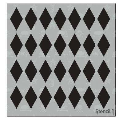 Diamonds Small Repeat Pattern Stencil