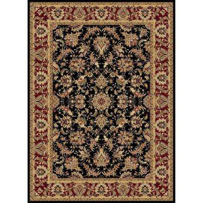 Williams Collection Ararat Black 7 ft. 10 in. x 10 ft. 10 in. Area Rug