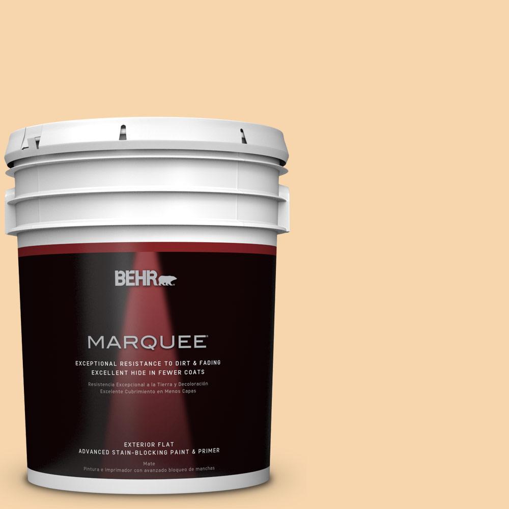 5-gal. #PPU6-8 Pale Honey Flat Exterior Paint