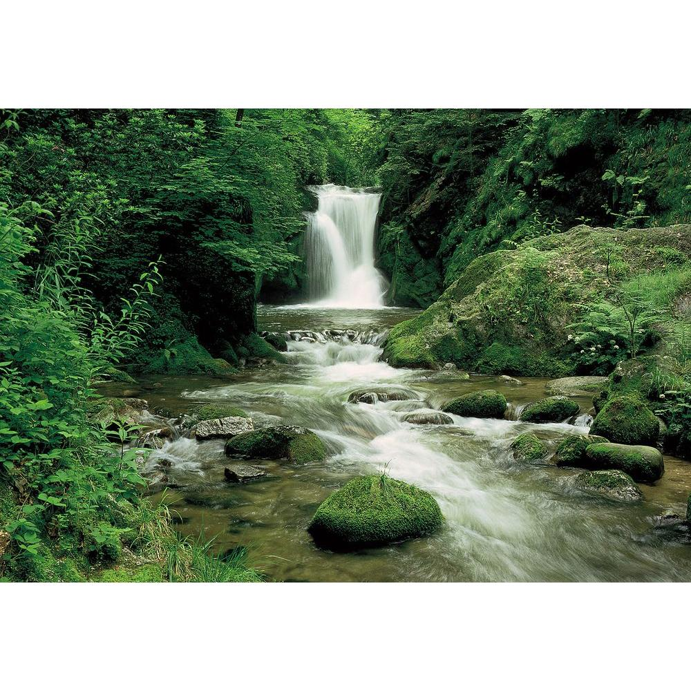 Komar 106 in. x 153 in. Black Forest Waterfall Wall Mural