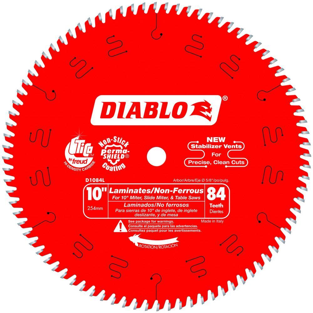 10 in. x 84-Teeth Laminate/Non-Ferrous Metal Cutting Saw Blade