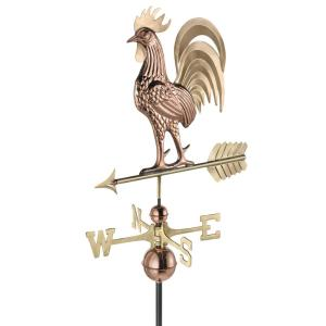 Good Directions Proud Rooster Weathervane - Pure Copper and Brass by Good Directions