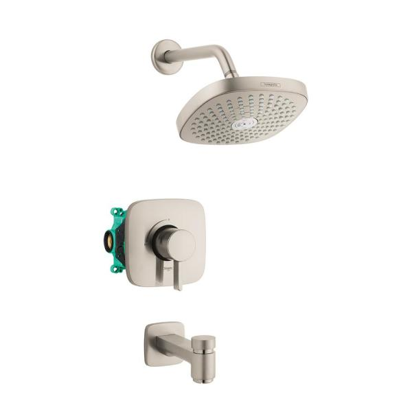 Croma Select E 180 Single-Handle 2-Spray Tub and Shower Faucet with Tub Spout in Brushed Nickel (Valve Included)