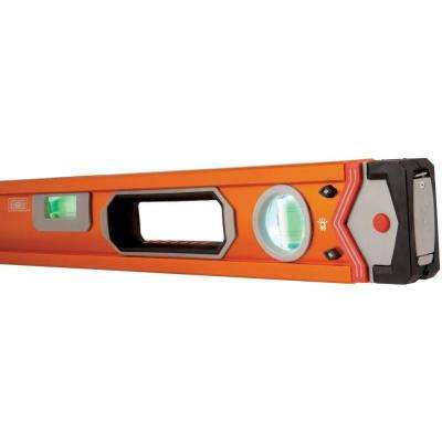 48 in. Lighted Professional Box Beam Level with Supershock End Caps