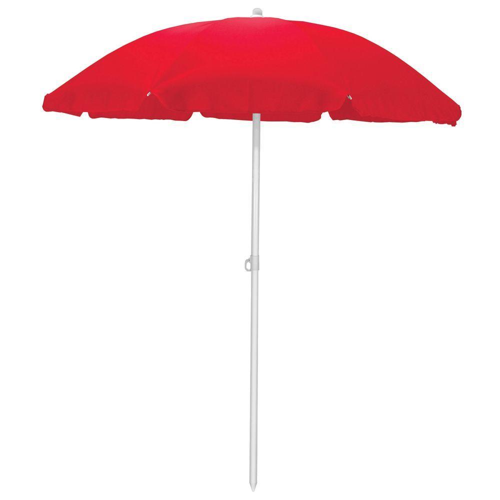 5.5 ft. Beach Patio Umbrella in Red
