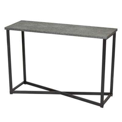 29.5 in x 15.35 in. Slate Faux Concrete Sofa Table