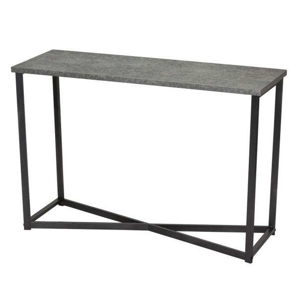 Household Essentials 29.5 in x 15.35 in. Slate Faux Concrete Sofa Table