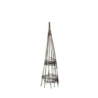 15 in. W x 60 in. H Willow Round Obelisk