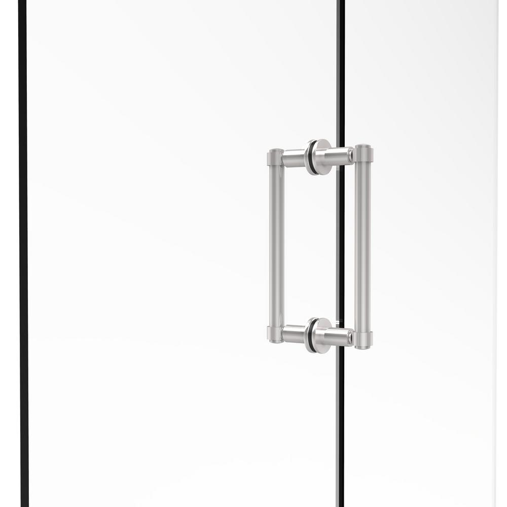 Contemporary 8 in. Back-to-Back Shower Door Pull in Polished Chrome