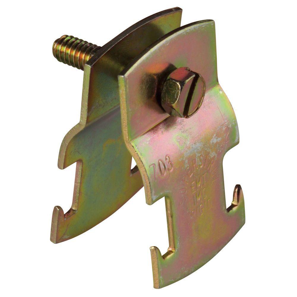 1 in. Universal Strut Pipe Clamp - Gold Galvanized