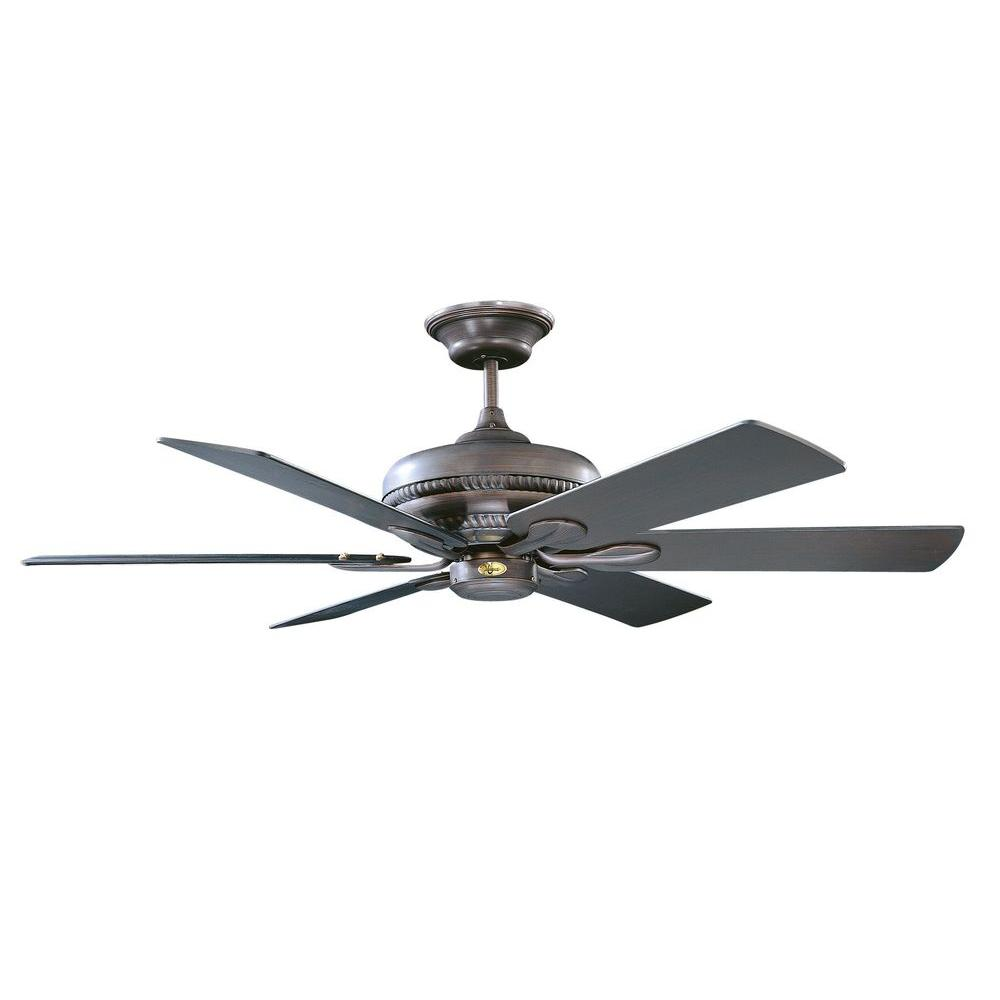 Radionic Hi Tech Caperton 52 in. Oil Rubbed Bronze Ceiling Fan with 6 Blades