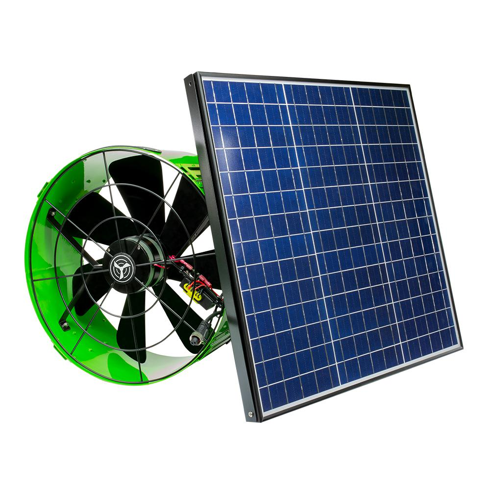 Quietcool 40 Watt Hybrid Solar Electric Powered Gable Mount Attic Fan With Included Inverter Afg Slr 40 The Home Depot