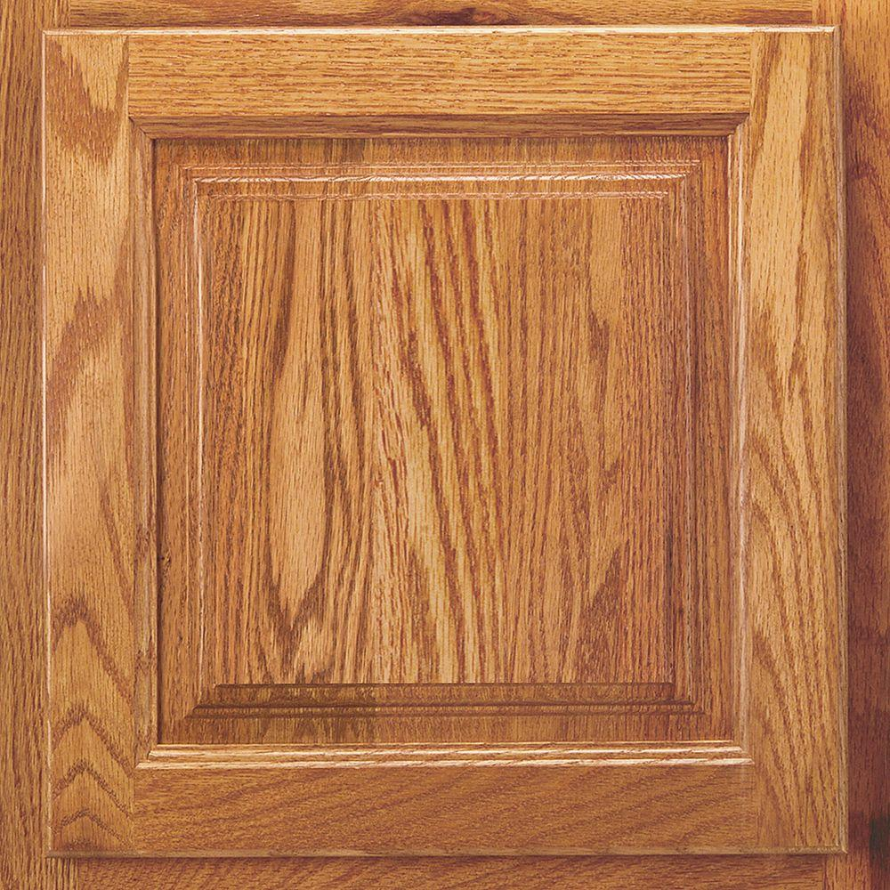 13x12-7/8 in. Cabinet Door Sample in Newport Oak Honey