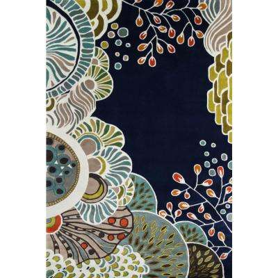 Contempo Navy Blue 10 ft. x 14 ft. Area Rug