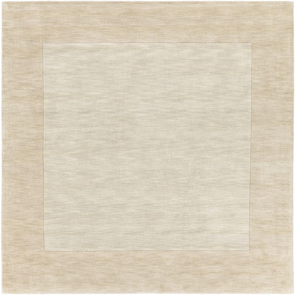 Foxcroft White 8 ft. x 8 ft. Indoor Square Area Rug