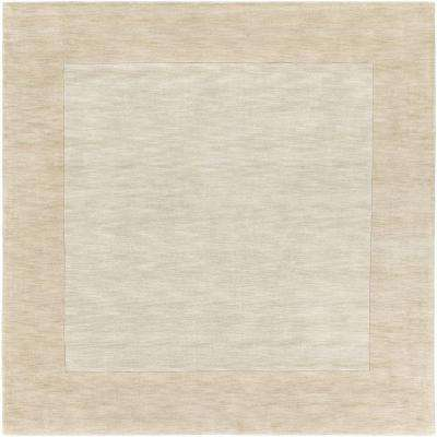 Foxcroft White 10 ft. x 10 ft. Indoor Square Area Rug