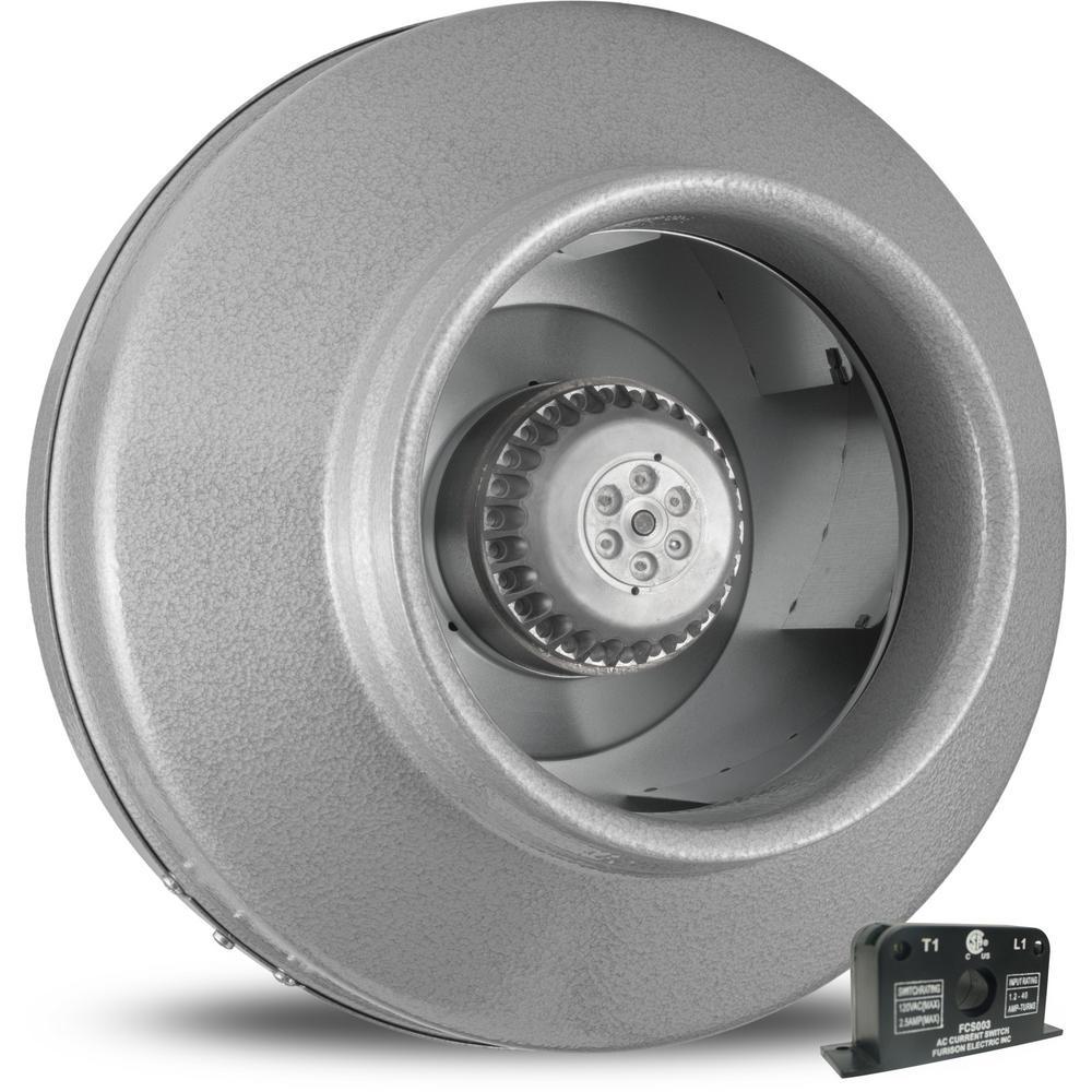 Powerfan 8 in. L 651 CFM Inline Fan with Current Sensor