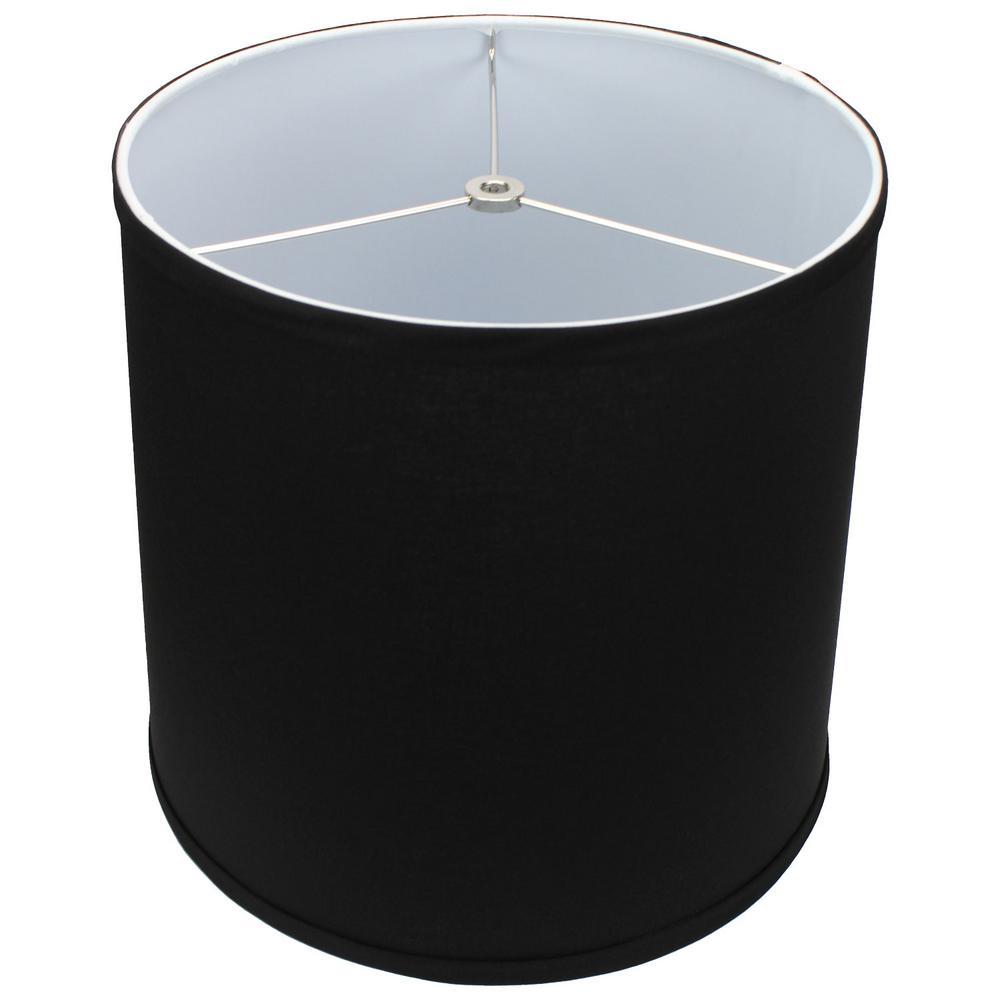 12 in. Top Diameter x 13 in. Bottom Diameter x 12 in. Slant Linen Black Empire Lamp Shade