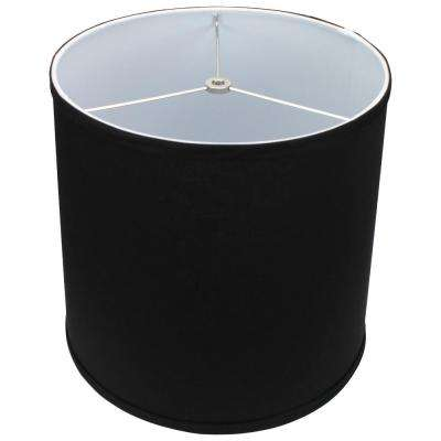 12 in. Top Diameter x 13 in. Bottom Diameter x 12 in. Slant Linen Black Empire Lamp Shade
