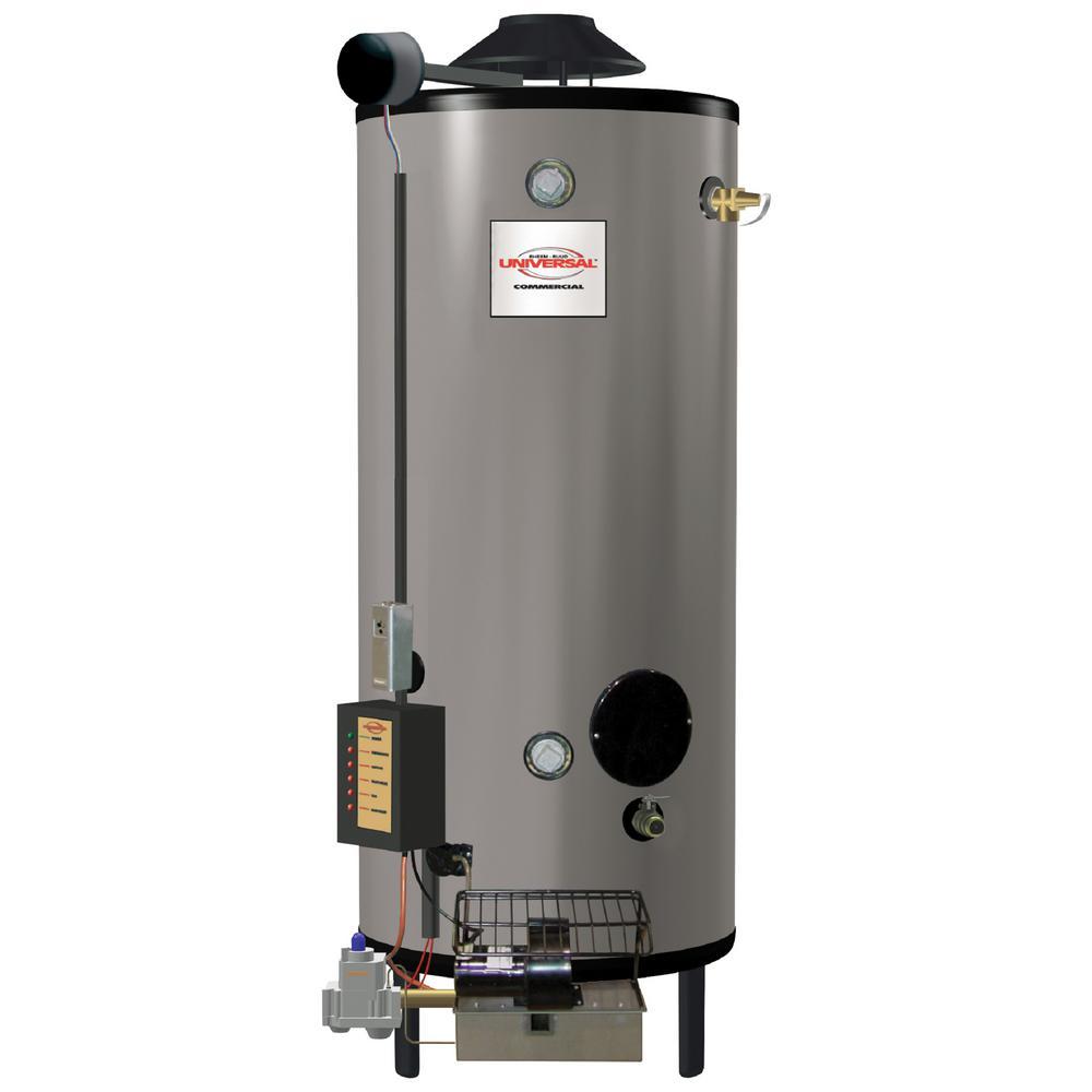 Commercial Universal Heavy Duty 100 Gal. 399.9K BTU Low NOx (LN) Natural Gas ASME Tank Water Heater