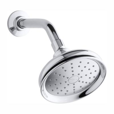 Fairfax 1-Spray 5.5 in. Single Wall Mount Fixed Shower Head in Polished Chrome