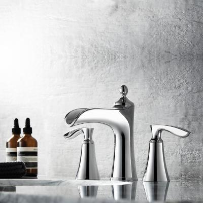 Ukiah 8 in. Widespread 2-Handle Bathroom Faucet in Polished Chrome