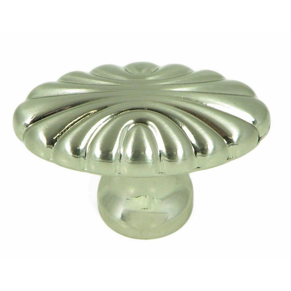 Stone Mill Hardware Tuscany 1 5/8 In. Satin Nickel Oval Cabinet Knob