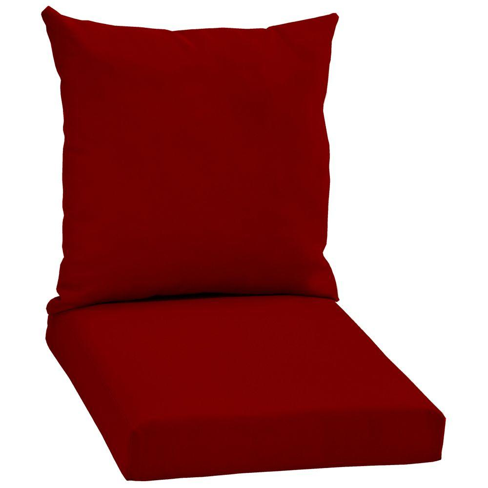 Arden Canvas Jockey Red 2-Piece Outdoor Chair Cushion-DISCONTINUED