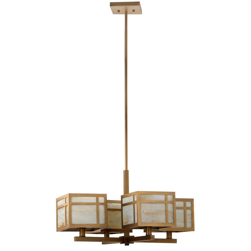 SAFAVIEH Safavieh Craftsman 4-Light Antique Gold Chandelier