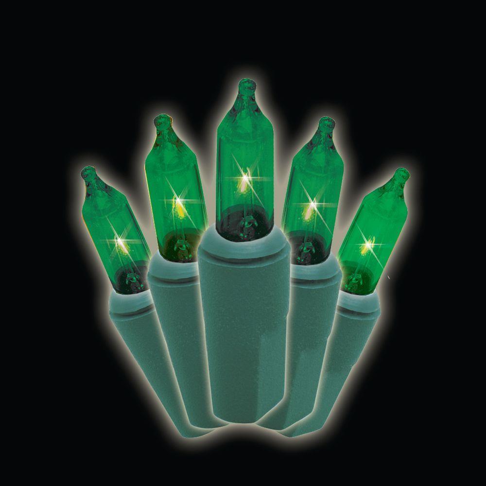 50-Light Designer Series Green Mini Light Set (Set of 2)