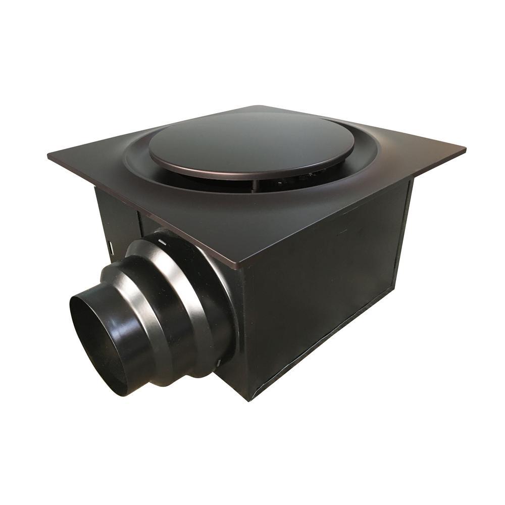 Aero Pure Low Profile 110 CFM Quiet Ceiling Bathroom Ventilation Fan 0.9 Sones, Oil Rubbed