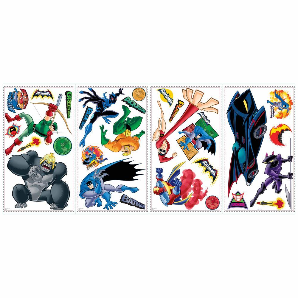 RoomMates Batman Brave and Bold Peel and Stick Wall Decals-DISCONTINUED