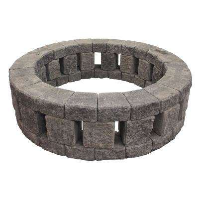 Stonehenge 58 in. x 16 in. Concrete Fire Pit Kit in Cascade Blend