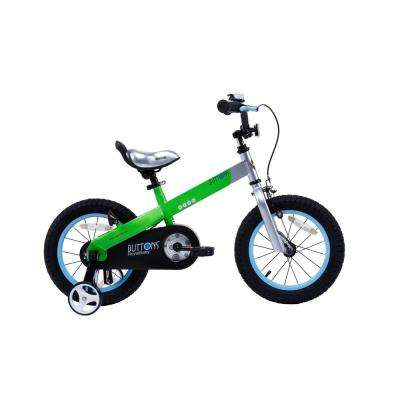 Matte Buttons Kid's Bike, Boy's Bikes and Girl's Bikes with Training Wheels, 12 in. Wheels in Matte Green
