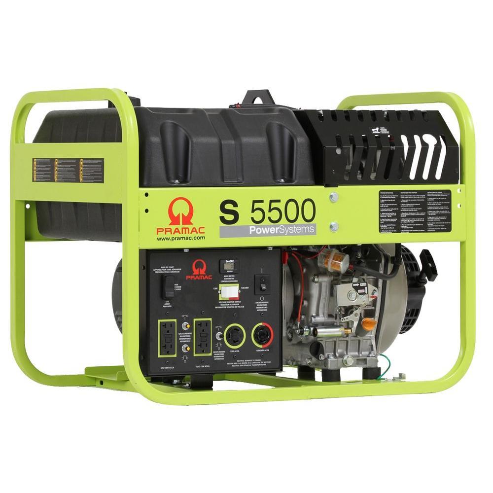 Pramac 5500-Watt Portable Generator with Electric Start Powered by Yanmar Engine-DISCONTINUED