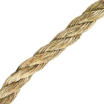 1 in. x 1 ft. Manila Twist Rope, Natural
