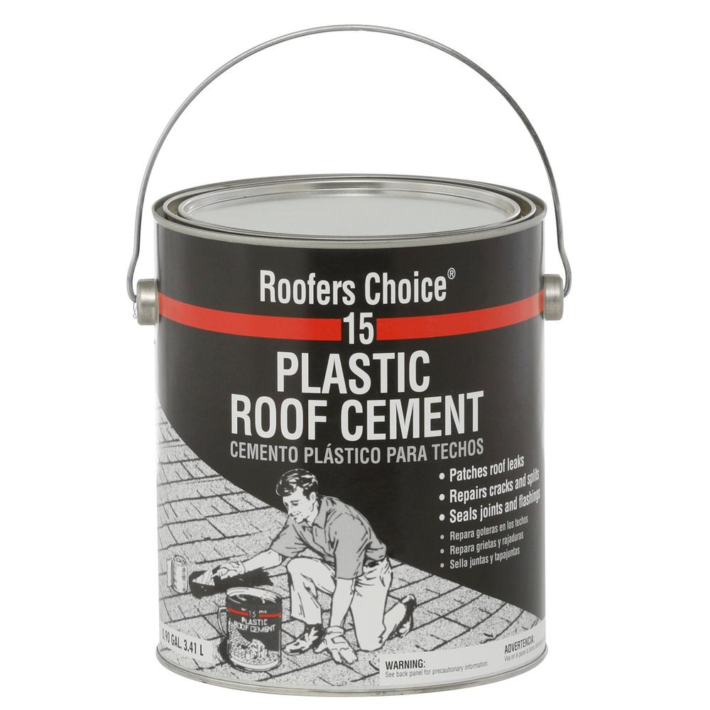 Roofers Choice 0 90 Gal Plastic Roof Cement Rc015142 The Home Depot
