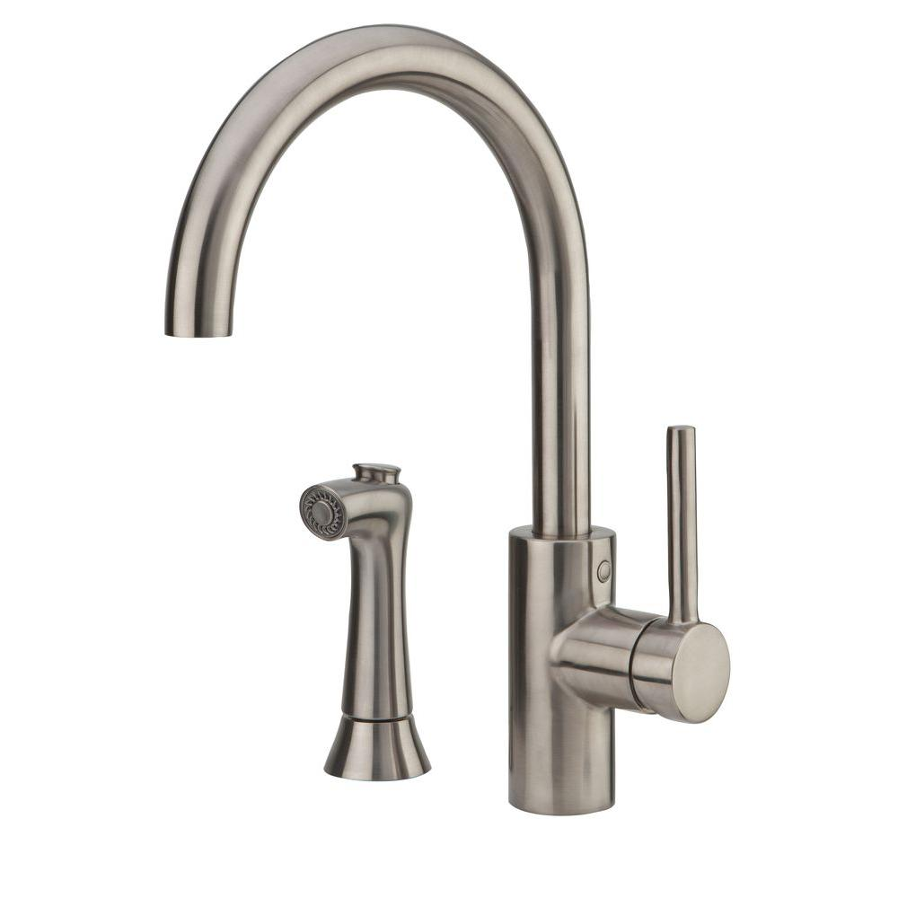 Pfister Solo Single-Handle Side Sprayer Kitchen Faucet in Stainless Steel